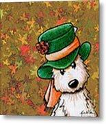 Hat Season Cairn Terrier Metal Print by Kim Niles