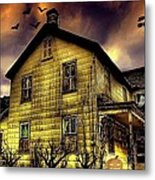 Haunted Halloween House Metal Print by Robin Pross