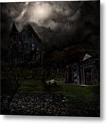 Haunted House Metal Print by Lisa Evans
