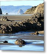 Haystack Rock From Arcadia Beach Metal Print by Steven A Bash