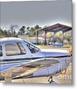 Hdr Airplane Looks Plane From Afar Under Canopy Metal Print by Pictures HDR