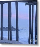 Hdr Beach Pier Ocean Beaches Art Photos Pictures Buy Sell Selling New Pics Sea Seaview Scenic   Metal Print by Pictures HDR