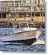 Hdr Boat Boats Sea Ocean Fishing Jetty Boadwalk Photos Pictures Photography Scenic Landscape Pics Metal Print by Pictures HDR