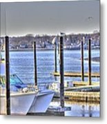 Hdr  Boat Waiting Wanting Yet Tied Metal Print by Pictures HDR