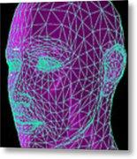 Head Contour Map, Art Metal Print by Laguna Design