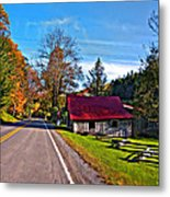 Helvetia Wv Painted Metal Print by Steve Harrington