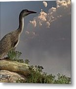 Hesperornis By The Sea Metal Print by Daniel Eskridge