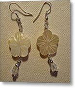 Hibiscus Hawaii Flower Earrings Metal Print by Jenna Green