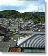 Hillside Village In Japan Metal Print by Daniel Hagerman