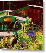 Hippie Camping Metal Print by Cindy Wright