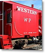 Historic Niles District In California Near Fremont . Western Pacific Caboose Train . 7d10627 Metal Print by Wingsdomain Art and Photography