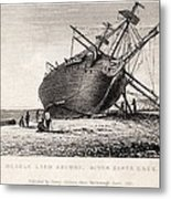 Hms Beagle Ship Laid Up Darwin's Voyage Metal Print by Paul D Stewart