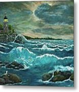 Hobson's Lighthouse Metal Print by Ave Hurley