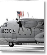 Hoisting The Colors Metal Print by Greg Fortier