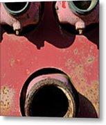 Hollow Face Metal Print by Luke Moore
