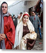 Holy Family At 4th Annual Christmas March For Peace And Unity Metal Print by Munir Alawi