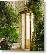 Home Entrance And Courtyard Metal Print by Andersen Ross