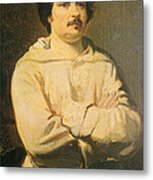 Honore De Balkzac, French Author Metal Print by Photo Researchers