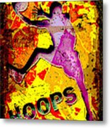 Hoops Basketball Player Abstract Metal Print by David G Paul