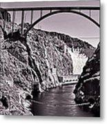 Hoover Dam Bridge Metal Print by Andre Salvador
