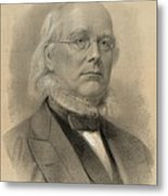 Horace Greeley 1811-1872, Ca. 1872 Metal Print by Everett
