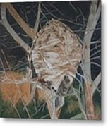 Hornet's Nest Metal Print by Terry Forrest