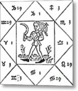 Horoscope Types, Engel, 1488 Metal Print by Science Source