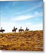Horseback Riding Metal Print by Carlos Caetano