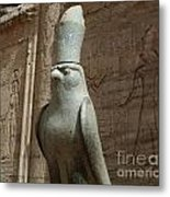 Horus The Falcon At Edfu Metal Print by Bob Christopher