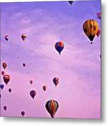 Hot Air Balloon Race - 1 Metal Print by Randy Muir