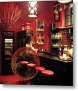 Hotel California With Bubble Metal Print by Pam Blackstone