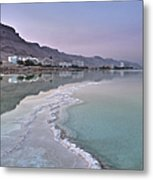Hotel On The Shore Of The Dead Sea Metal Print by Noam Armonn