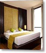 Hotel-room Metal Print by Atiketta Sangasaeng