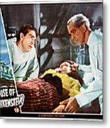 House Of Frankenstein, From Left J Metal Print by Everett