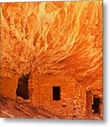 House On Fire Ruin Portrait 2 Metal Print by Bob and Nancy Kendrick