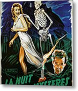 House On Haunted Hill, Carol Ohmart Metal Print by Everett