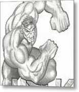 Hulk Metal Print by Rick Hill