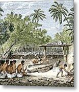 Human Sacrifice In Tahiti, Artwork Metal Print by Sheila Terry