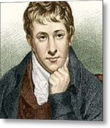 Humphry Davy, English Chemist Metal Print by Sheila Terry