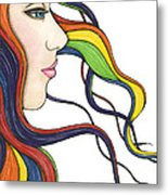 I Am My Own Rainbow Metal Print by Nora Blansett