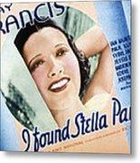 I Found Stella Parish, Kay Francis, 1935 Metal Print by Everett