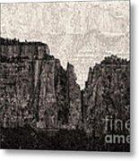 I Have Climbed  A Mountain Metal Print by Venura Herath