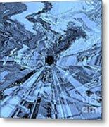 Ice Blue - Abstract Art Metal Print by Carol Groenen