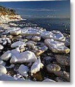 Ice Pieces, Cape Turner, Prince Edward Metal Print by John Sylvester