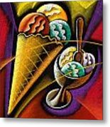 Icecream Metal Print by Leon Zernitsky