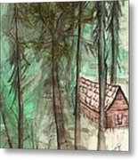 Imaginary Cabin Metal Print by Windy Mountain