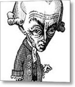 Immanuel Kant, Caricature Metal Print by Gary Brown