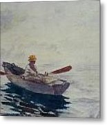In A Boat Metal Print by Winslow Homer