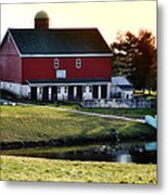 In The Barn Yard Metal Print by Bill Cannon