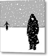 In The Snow Metal Print by Giuseppe Cristiano